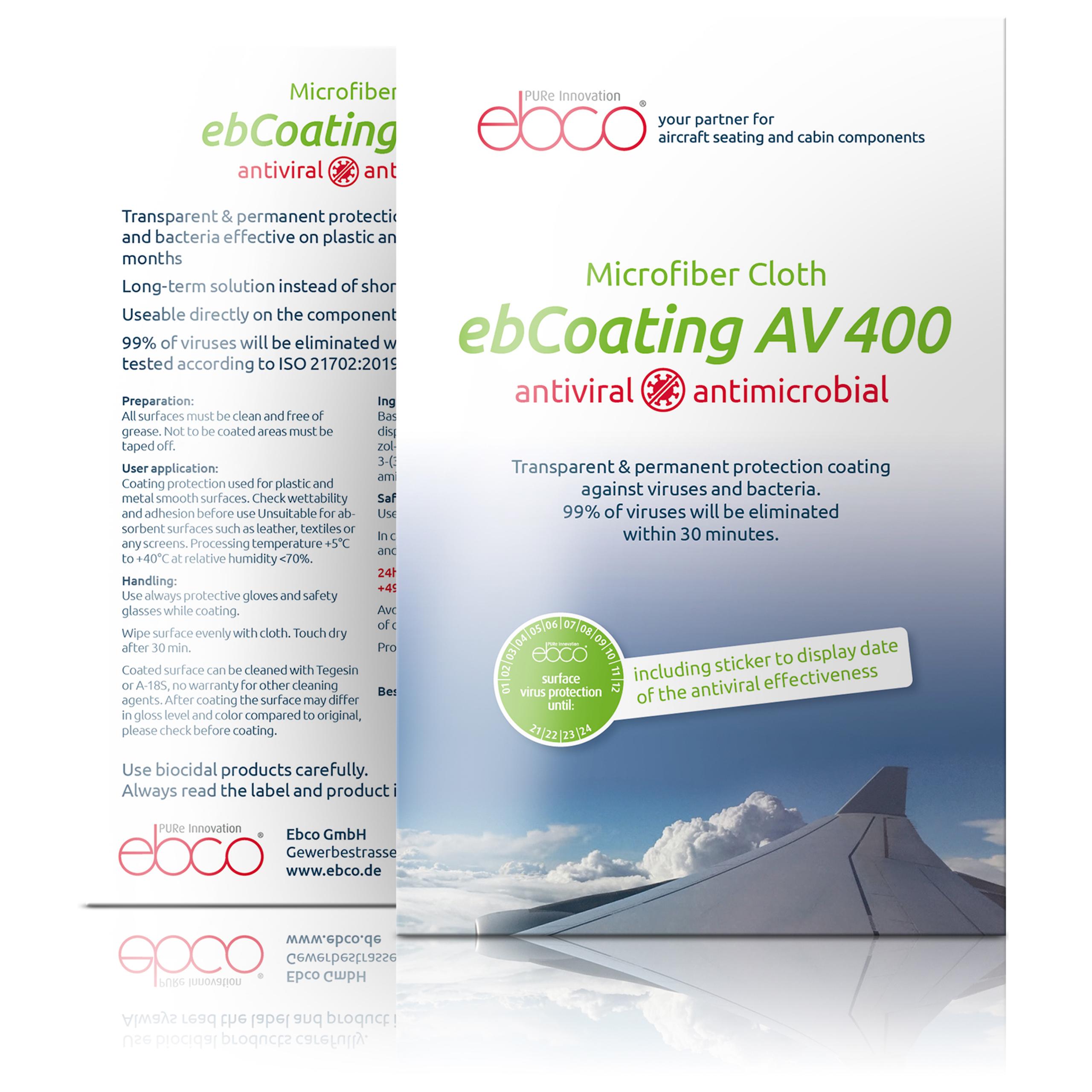 antiviral & antimicrobial <br> Microfiber Cloth<br/> ebCoating AV 400